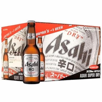 Asahi Super Dry Pint - 330 ml x 24 bottles