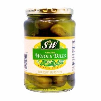 S&W Genuine Whole Dill Pickles 710ml