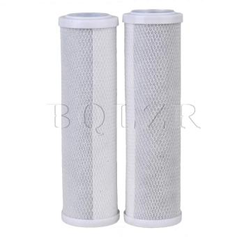 10 inch Water Filter Carbon Filter Element Compressed Set of 2 Gray