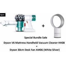 dyson v6 mattress handheld vacuum cleaner hh08 dyson 30cm desk fan am06 white silver - Dyson Vacuum Sale