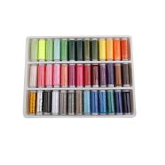 Hengsong 39pcs Mixed Colors Polyester Spool Needle Sewing Thread - Intl