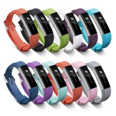 11 Color Luxury Silicone Band Strap Buckle For Fitbit Alta Grey