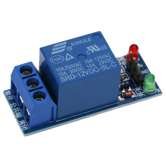 12V 1 Channel Relay Module Optocouple Board For PIC AVR DSP ARM (Blue) - intl