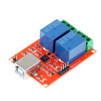 2 Channel 5V USB Relay Programmable Computer Control Relay forSmart Home - intl
