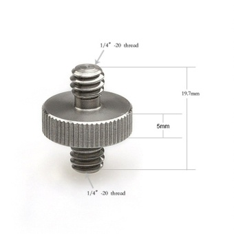 2pcs 1/4` Male to 1/4` Male Threaded Screw Adapter - intl