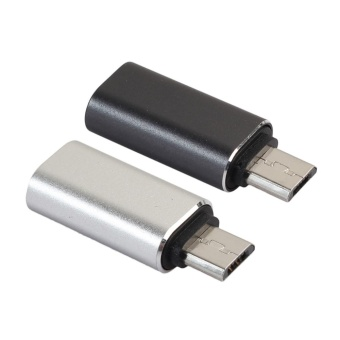 2pcs USB Type C Female to Micro USB Male Converter Adapter - intl