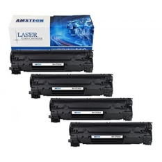 4pack amstech pages high yield compatible black toner cartridge replacement for hp 83x cf283x cf283