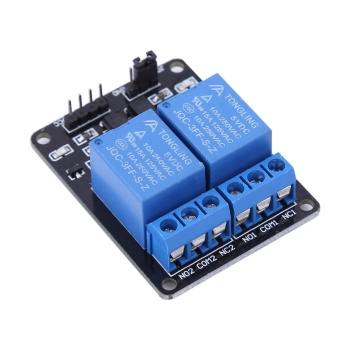 5V 2 Channel Relay Module With optocoupler For PIC AVR DSP ARM Arduino - intl