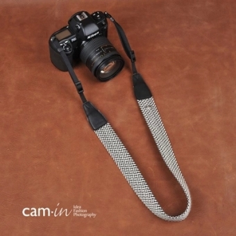 Cam-in brown white wave micro single camera strap shoulder strap