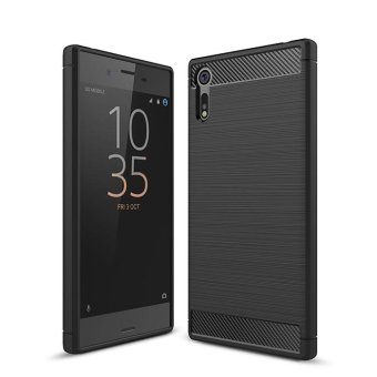 Carbon Rugged Armor Cover Case for Sony Xperia XZ - intl
