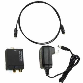 Digital Optical Toslink Coaxial Signal to Analog Audio Converter Cable - intl