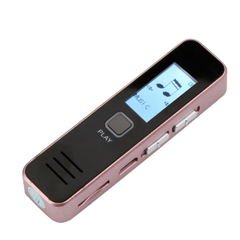 Digital Voice Recorder time Display MP3 Player Dictaphone Rechargeable - intl