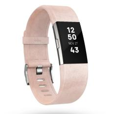 Fitbit Charge 2 Accessory Band Leather Blush Pink - Large