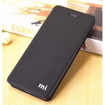 Flip Cover Leather Case For Xiaomi Redmi Note 4 (Black) - intl