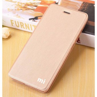 Flip Cover Leather Case For Xiaomi Redmi Note 4X (Gold) - intl