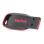 Genuine SanDisk USB 2.0 Flash Drive - Black + Red (8GB)