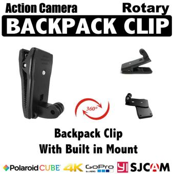 Gopro / Action Camera Backpack Clip with Built in Mount