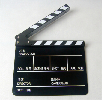 In English slate board director board movie props Chinese field note board New style black white