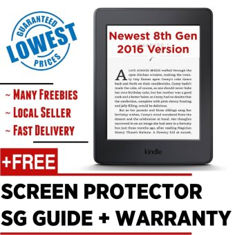 Latest 2017 Amazon Kindle 8th Gen + Screen Protector + SG Tutorial Guide  + Warranty