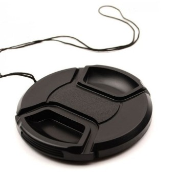 MENGS(R) 77mm Snap-On Lens Cap Cover With String / Leash For NikonCanon Sony