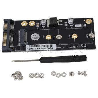 NGFF M.2 SSD to SATA3 Adapter Card (Black)