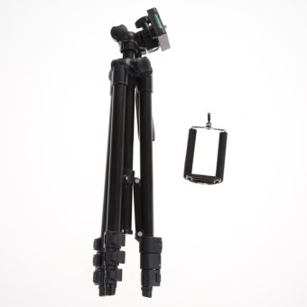 Professional Camera Tripod Stand Holder For Smart Phone iPhoneSamsung (Black)