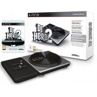 PS3 DJ Hero 2 with Turntable Kit Bundle