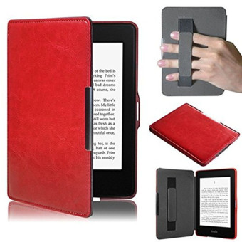 PU Leather Folio Case Cover For Amazon Kindle Paperwhite (Red)