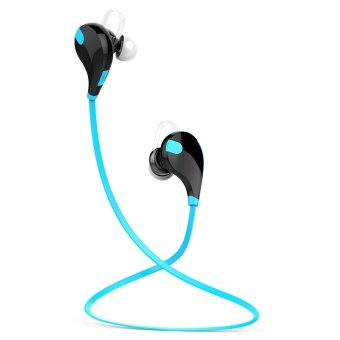 qy7 wireless bluetooth headphones for running blue lazada singapore. Black Bedroom Furniture Sets. Home Design Ideas