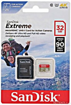 Sandisk Extreme Micro SD Class 10 32GB SDSQXNE-032G-GN6AA