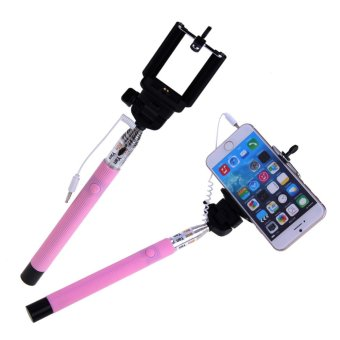 selfie handheld wired monopod stick cable take pole for iphone samsung lazada singapore. Black Bedroom Furniture Sets. Home Design Ideas