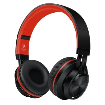 Sound Intone BT-06 Bluetooth Over-The-Ear Headphone (Red)