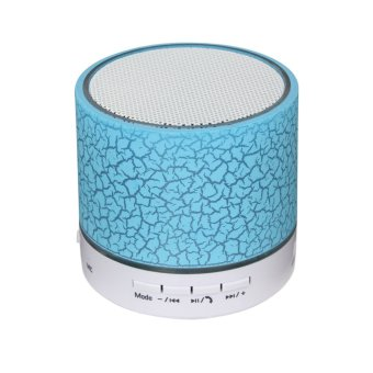 VAKIND Mini Wireless Bluetooth Speaker Colorful USB Speaker (Blue) (EXPORT)