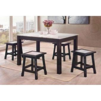 1+4 Marble Dining Set