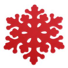 360DSC 4Pcs Christmas Snowflake Shaped Coaster Cup Mat Anti-Skid Pad Table Placemat 10*