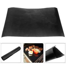 360DSC Teflon BBQ Grill Mat for Barbecue Grill and Microwave Oven Black