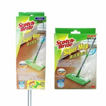 3M(TM) Scotch-Brite(TM) Super Mop with Scrapper + Refill