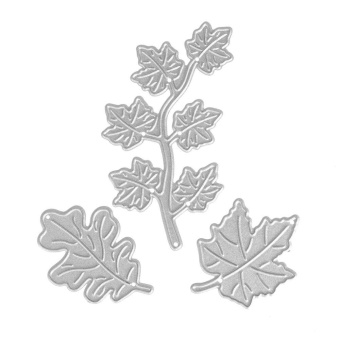 3pcs Three Leaves Dies Craft Embossing Cut Die for Scrapbooking - intl