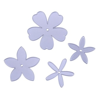 4pcs Flower Cutting Die Stencils Scrapbooking Album Paper Card Embossing - intl