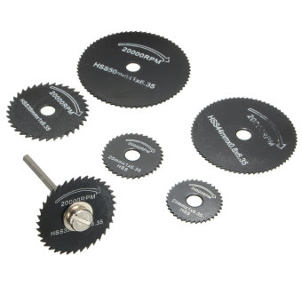7Pcs Wheel Cutting Blades Set HSS Saw Disc for Dremell Drills and Rotary Tools