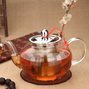 800ml does not rust filter thick heat-resistant glass tea pot glass teapot