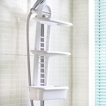 Bathroom punched shower Longtou hanging basket rack