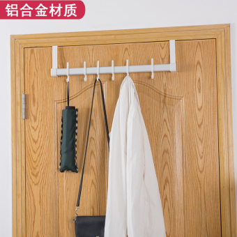 Bedroom door back free nail clothes hanging clothes rack hook