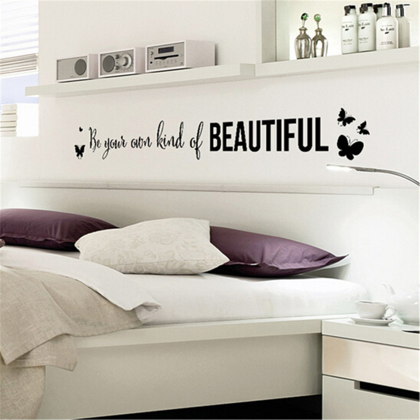 Live laugh love quote vinyl wall decal stickers mirror home roomdecor