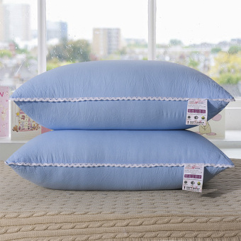 Can be wash five-star hotel pillow wash cotton craft Q bomb feather velvet neck pillow affordable one pair of dress