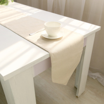 Chinese-style Chinese Linen plain Japanese-style cloth Table Runner