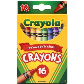 Crayola 16-count Crayons (in a peggable box)