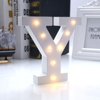Creative 26 Letters LED Warm White Night Light Wall Sign Wedding Party - intl