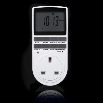 Digital LCD Power Programmable Timer Switch Summer Random Function UK Plug