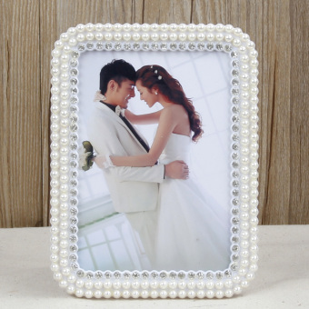 European Pearl 10-inch studio wedding creative resin Photo Frame